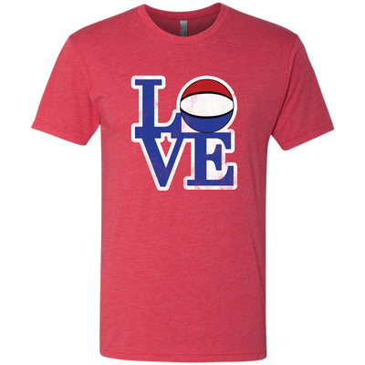 Philly Hoops Love Men's Triblend T-Shirt - PhillyFandom T-Shirts - Shirts PhillyFandom Philly Sports Tees