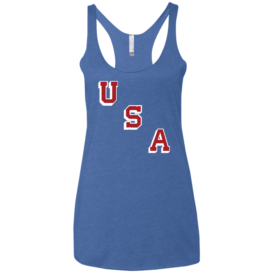 USA Forgotten Miracle 1960 Ladies' Triblend Racerback Tank
