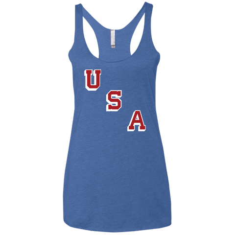 USA Forgotten Miracle 1960 Ladies' Triblend Racerback Tank - PhillyFandom T-Shirts - Shirts PhillyFandom Philly Sports Tees