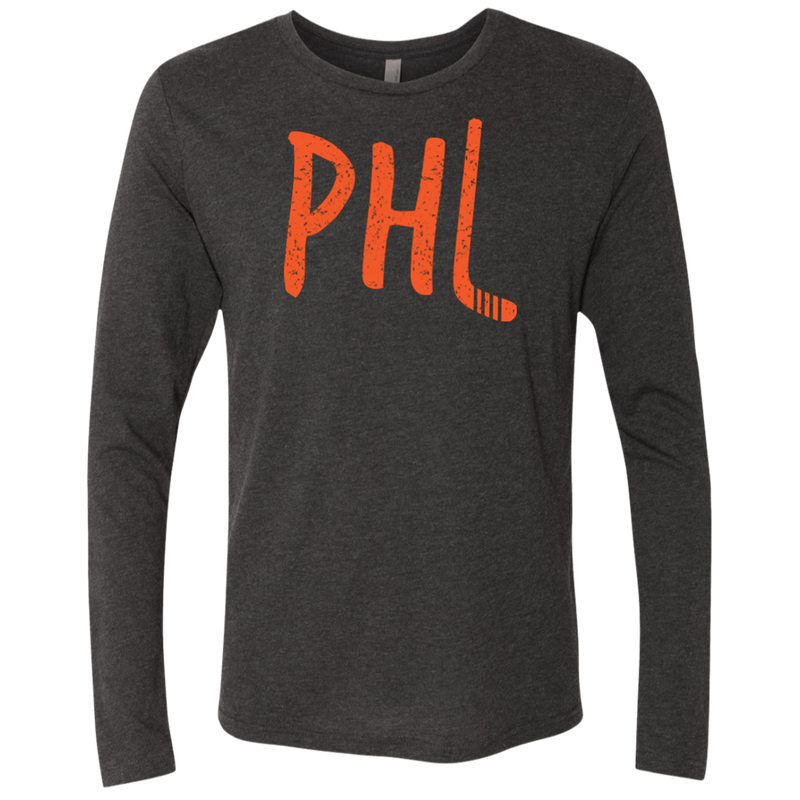 Philly Hockey Retro Men's Triblend Long Sleeve Crew