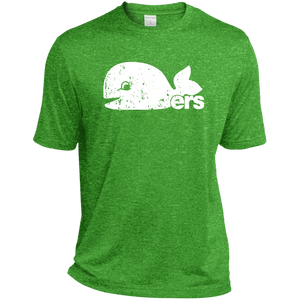 Retro Green Pucky The Whale Inspired Whalers Heather Dri-Fit Moisture-Wicking T-Shirt - PhillyFandom T-Shirts - Shirts PhillyFandom Philly Sports Tees