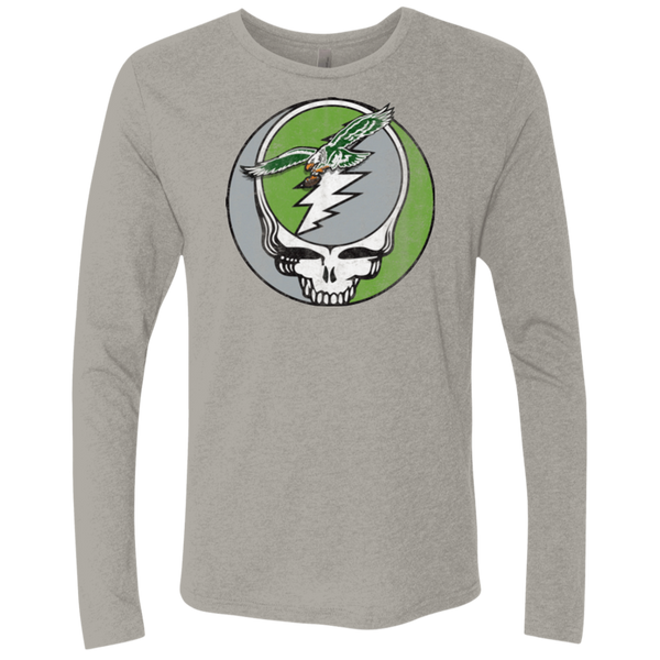 Stealadelphia Football Men's Triblend Long Sleeve Crew - PhillyFandom T-Shirts - Shirts PhillyFandom Philly Sports Tees
