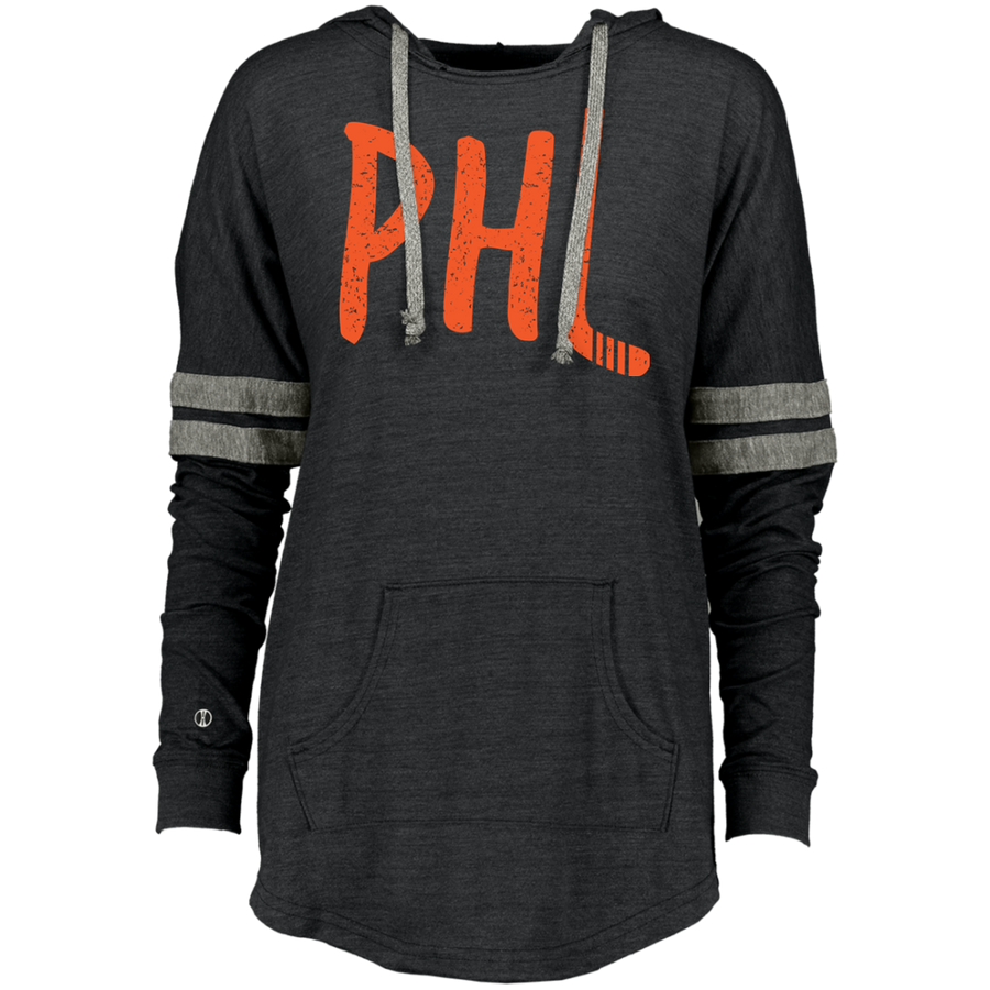 Retro Philly Hockey Ladies Hooded Low Key Pullover