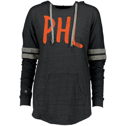 Retro Philly Hockey Ladies Hooded Low Key Pullover - PhillyFandom Sweatshirts - Shirts PhillyFandom Philly Sports Tees