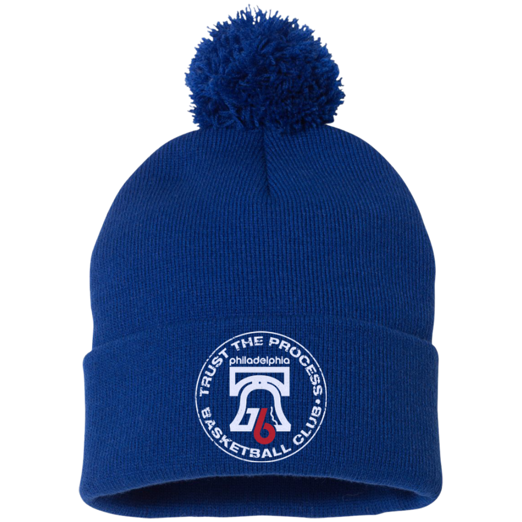 Trust the Process Pom Pom Knit Cap - PhillyFandom Hats - Shirts PhillyFandom Philly Sports Tees