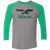 Retro Birds Inspired Tri-Blend 3/4 Sleeve Baseball Raglan T-Shirt