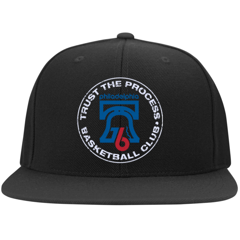 Trust the Process  Flat Bill High-Profile Snapback Hat - PhillyFandom Hats - Shirts PhillyFandom Philly Sports Tees
