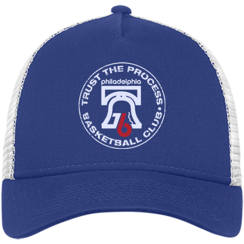 Trust the Process Hoops Club New Era® Snapback Trucker Cap - PhillyFandom Hats - Shirts PhillyFandom Philly Sports Tees