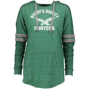 Retro Buddy's Bounty Hunters Ladies Hooded Low Key Pullover - PhillyFandom Sweatshirts - Shirts PhillyFandom Philly Sports Tees
