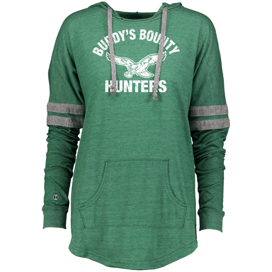 Retro Buddy's Bounty Hunters Ladies Hooded Low Key Pullover