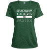 Hungry Dogs Run Faster Ladies' Heather Dri-Fit Moisture-Wicking T-Shirt - PhillyFandom T-Shirts - Shirts PhillyFandom Philly Sports Tees