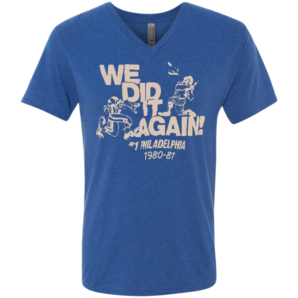 Vintage Inspired Philly Sports We Did It Tee - PhillyFandom Apparel - Shirts PhillyFandom Philly Sports Tees