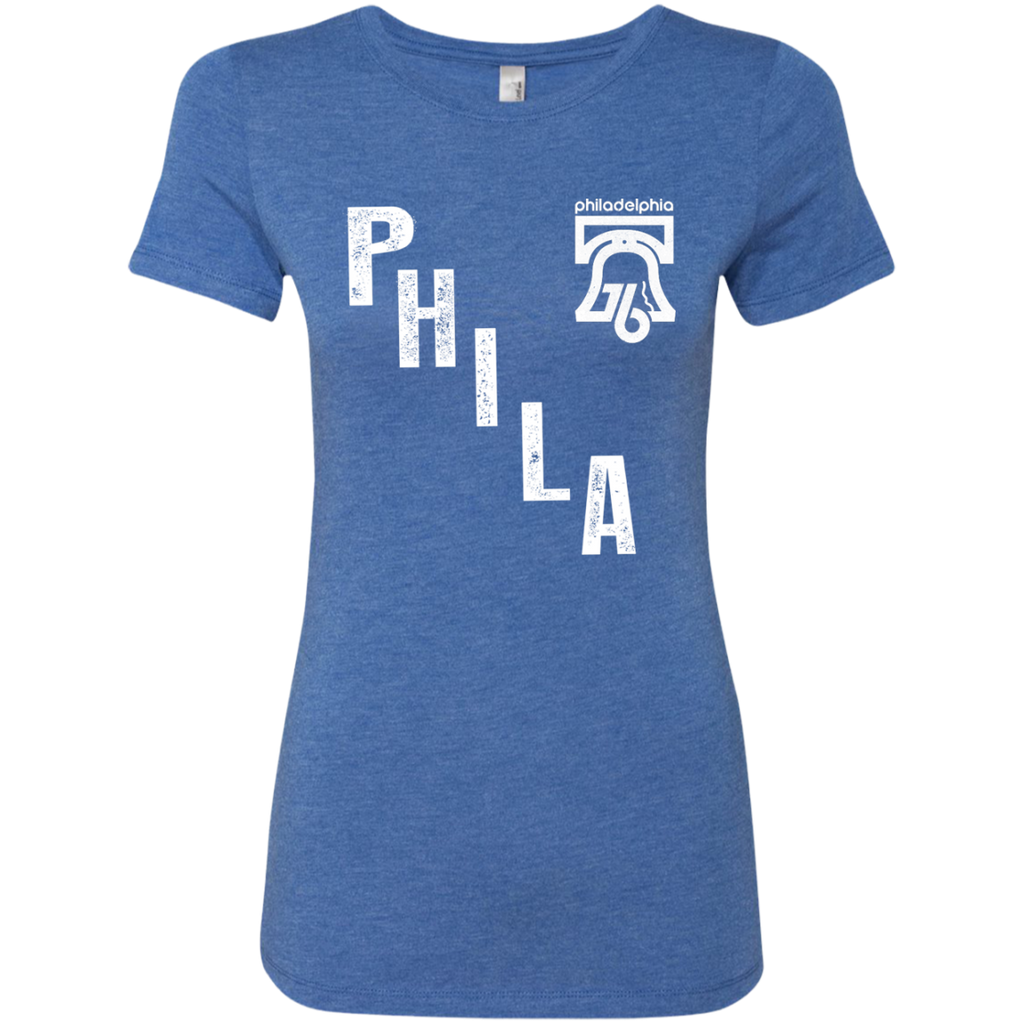 PHILA Ladies Triblend T-Shirt - PhillyFandom T-Shirts - Shirts PhillyFandom Philly Sports Tees