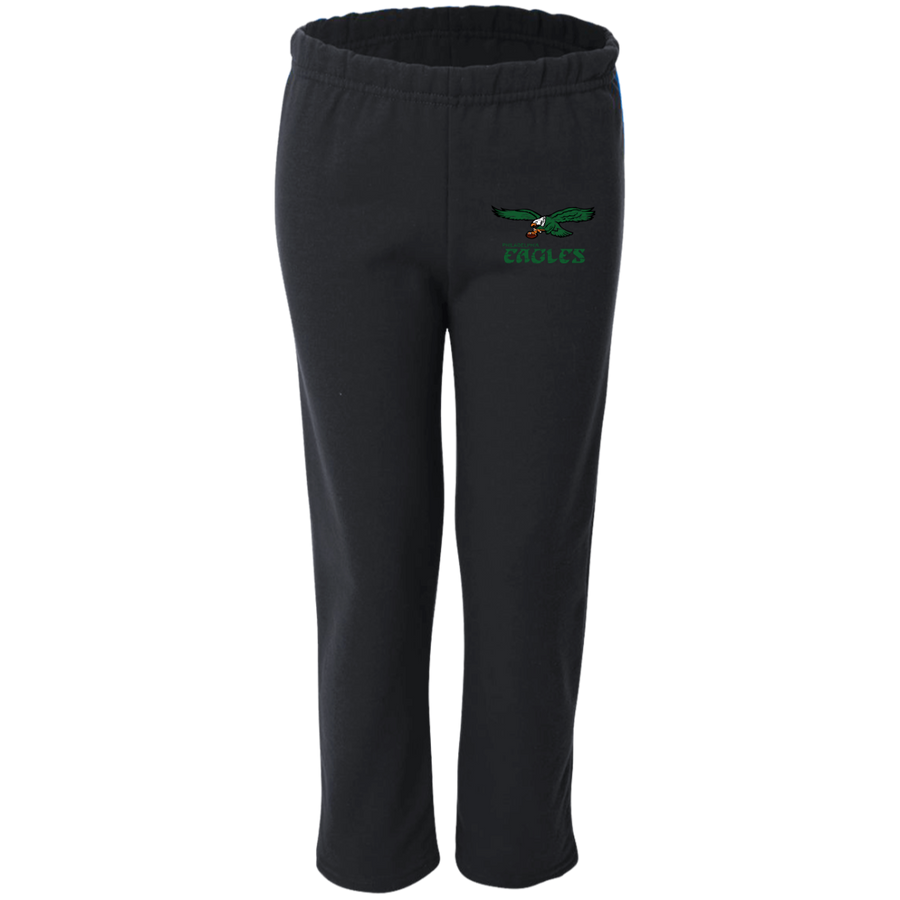 Retro Philadelphia Eagles Inspired Youth Open Bottom Sweatpants