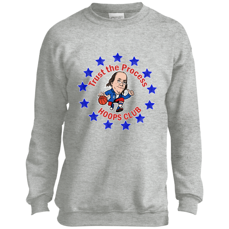Trust the Process Circle Youth Crewneck Sweatshirt