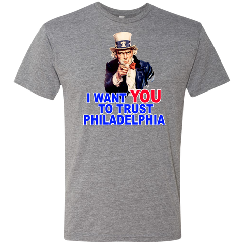 I Want You To Trust Men's Triblend T-Shirt - PhillyFandom T-Shirts - Shirts PhillyFandom Philly Sports Tees
