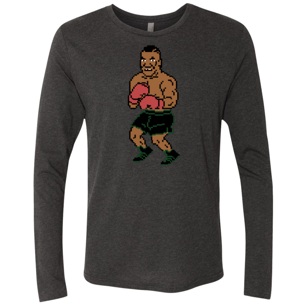 Tyson Punchout Inspired Men's Triblend Long Sleeve Crew