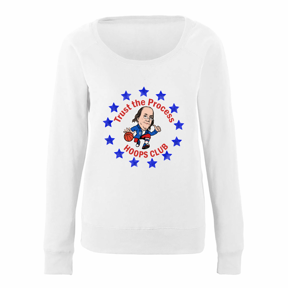 Trust the Process Circle Ladies Slouchy Pullover