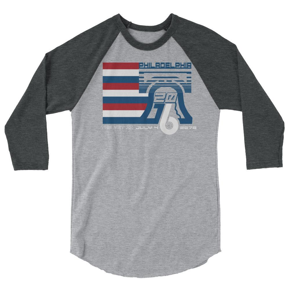 Philadelphia Tricentennial 2076 3/4 Sleeve Raglan Shirt - PhillyFandom  - Shirts PhillyFandom Philly Sports Tees