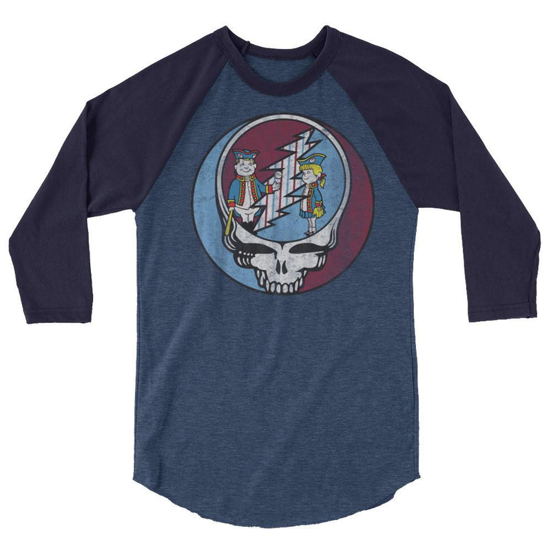 Stealadelphia Baseball 3/4 Sleeve Raglan Shirt - PhillyFandom  - Shirts PhillyFandom Philly Sports Tees