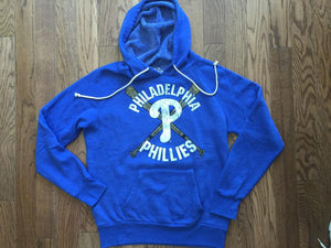 Majestic Threads Mens Philadelphia Phillies Tri Blend Pullover Hoodie - PhillyFandom Hoodies - Shirts PhillyFandom Philly Sports Tees