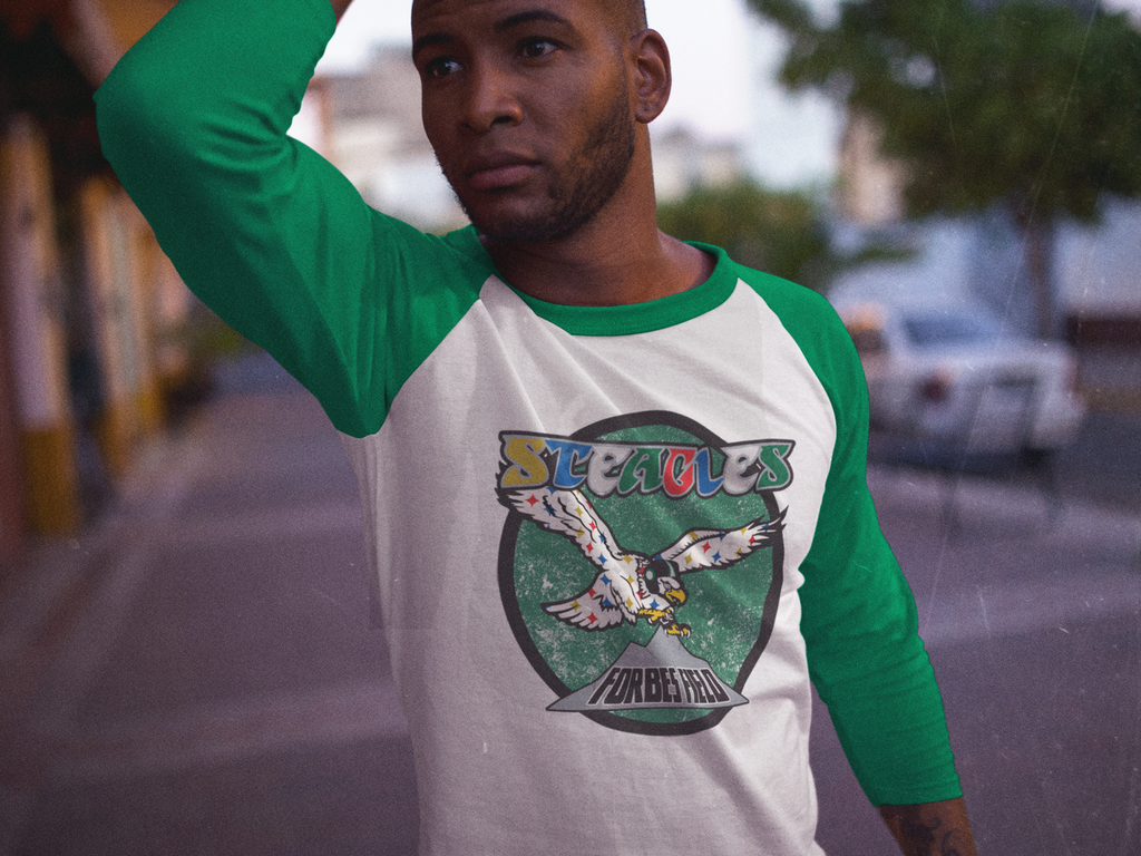 Steagles Retro 3/4 Sleeve Raglan Shirt - PhillyFandom  - Shirts PhillyFandom Philly Sports Tees