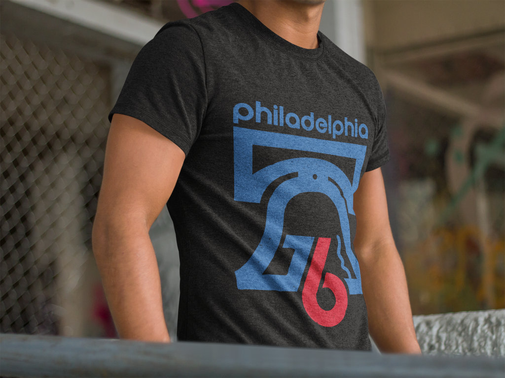 Philly 76 Bicentennial Inspired Adult Unisex Triblend T-Shirt - PhillyFandom Product - Shirts PhillyFandom Philly Sports Tees