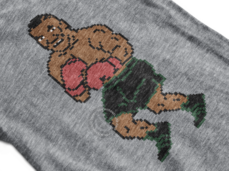 Old School Punchout Inspired Adult Triblend Short Sleeve Tee
