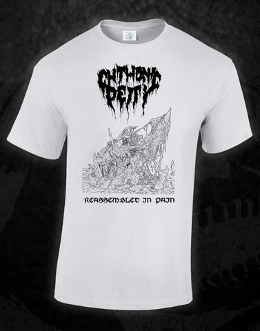 CHTHONIC DEITY - 'REASSEMBLED IN PAIN' WHITE S/S