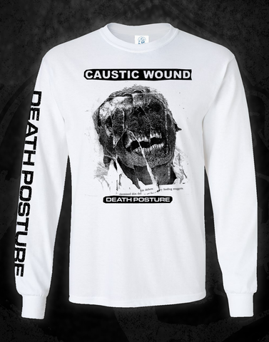 CAUSTIC WOUND - 'DEATH POSTURE' WHITE L/S