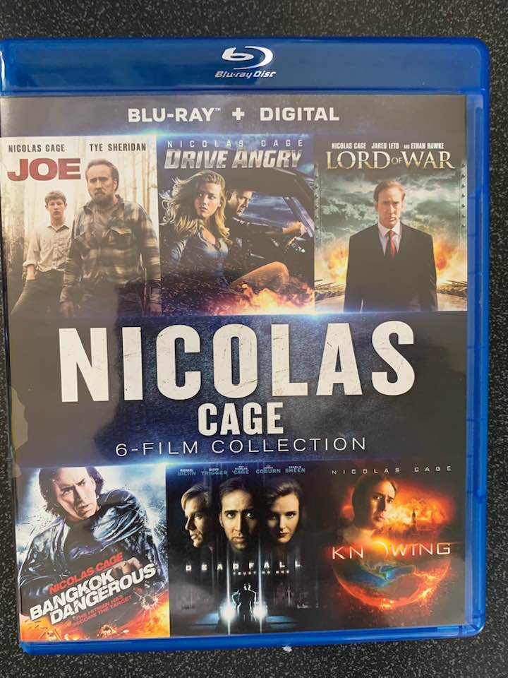 Nicolas Cage 6-Film Collection Digital Copy Download Code Vudu HD HDX