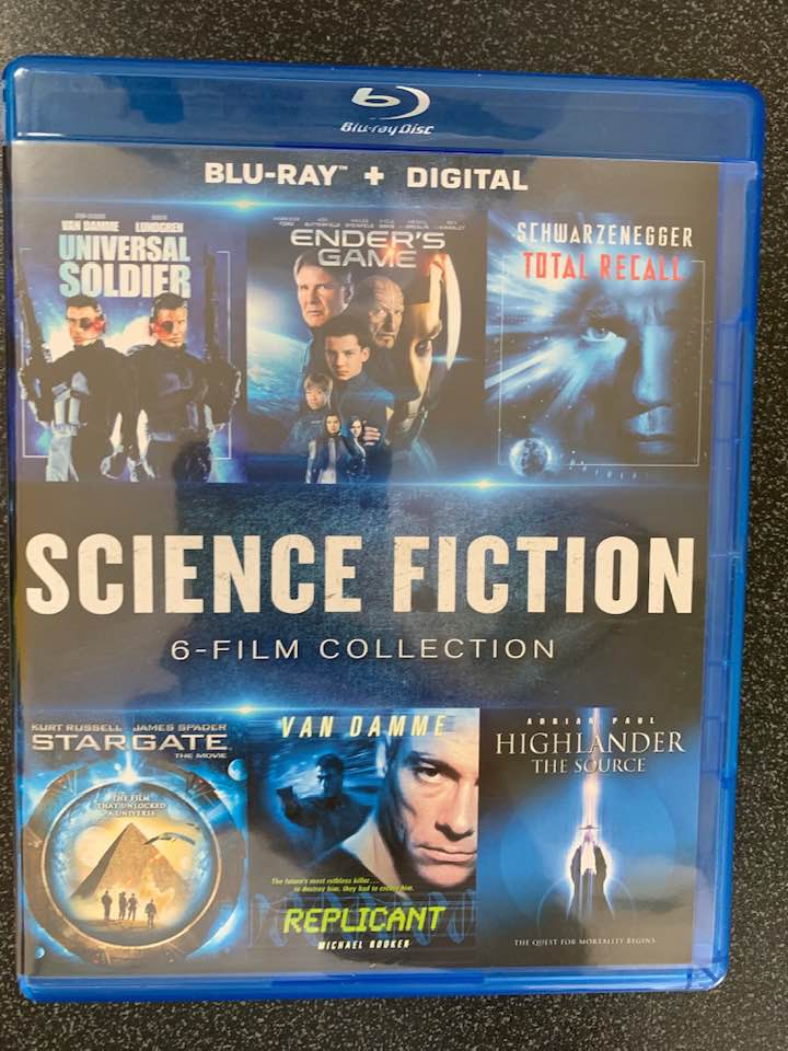 Science Fiction 6-Film Collection Digital Copy Download Code Vudu HD HDX