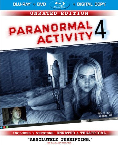 Paranormal Activity 4 Unrated Digital Copy Download Code iTunes HD