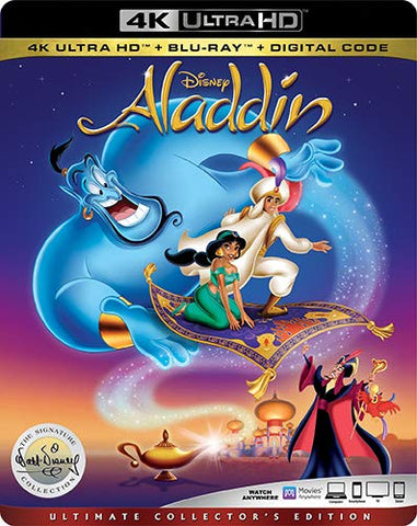 Aladdin 1992 Digital Copy Download Code Disney VUDU 4K