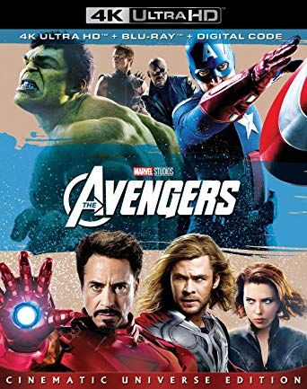 Avengers Digital Copy Download Code Disney Marvel Vudu 4K