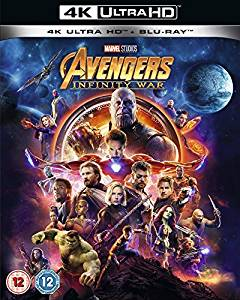 Avengers Infinity War Digital Copy Download Code 4K