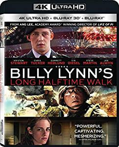 Billy Lynn's Long Halftime Walk Digital Copy Download Code Sony 4K