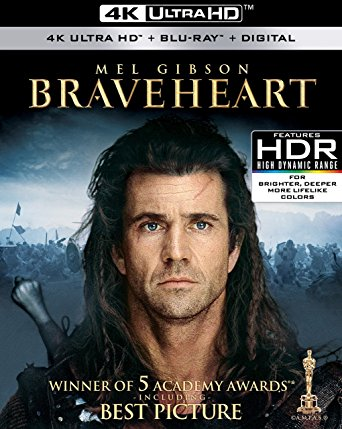 Braveheart Digital Copy Download Code Vudu 4K
