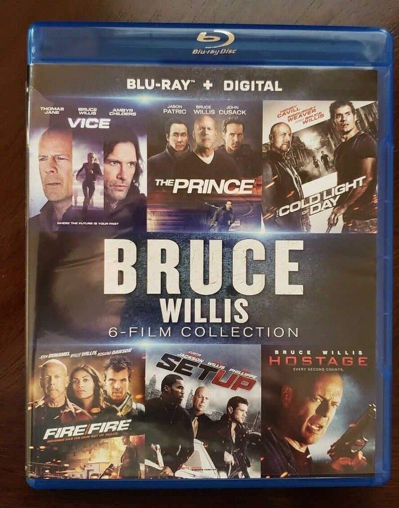 Bruce Willis 6-Film Collection Digital Copy Download Code Vudu HDX