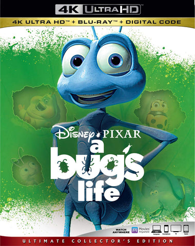A Bug's Life Digital Copy Download Code Disney VUDU 4K