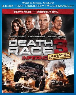 Death Race 3 Inferno UNRATED Digital Copy Download Code UV Ultra Violet VUDU HD HDX