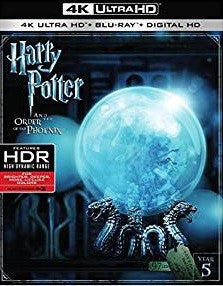Harry Potter and the Order of the Phoenix Digital Copy Download Code Vudu 4K