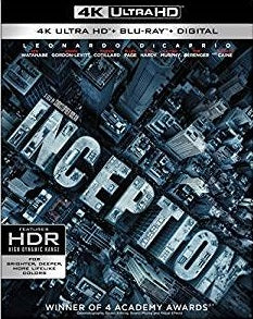 Inception Digital Copy Download Code MA VUDU iTunes 4K