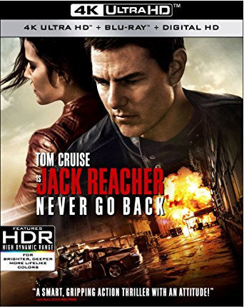 Jack Reacher: Never Go Back Digital Copy Download Code Vudu 4K