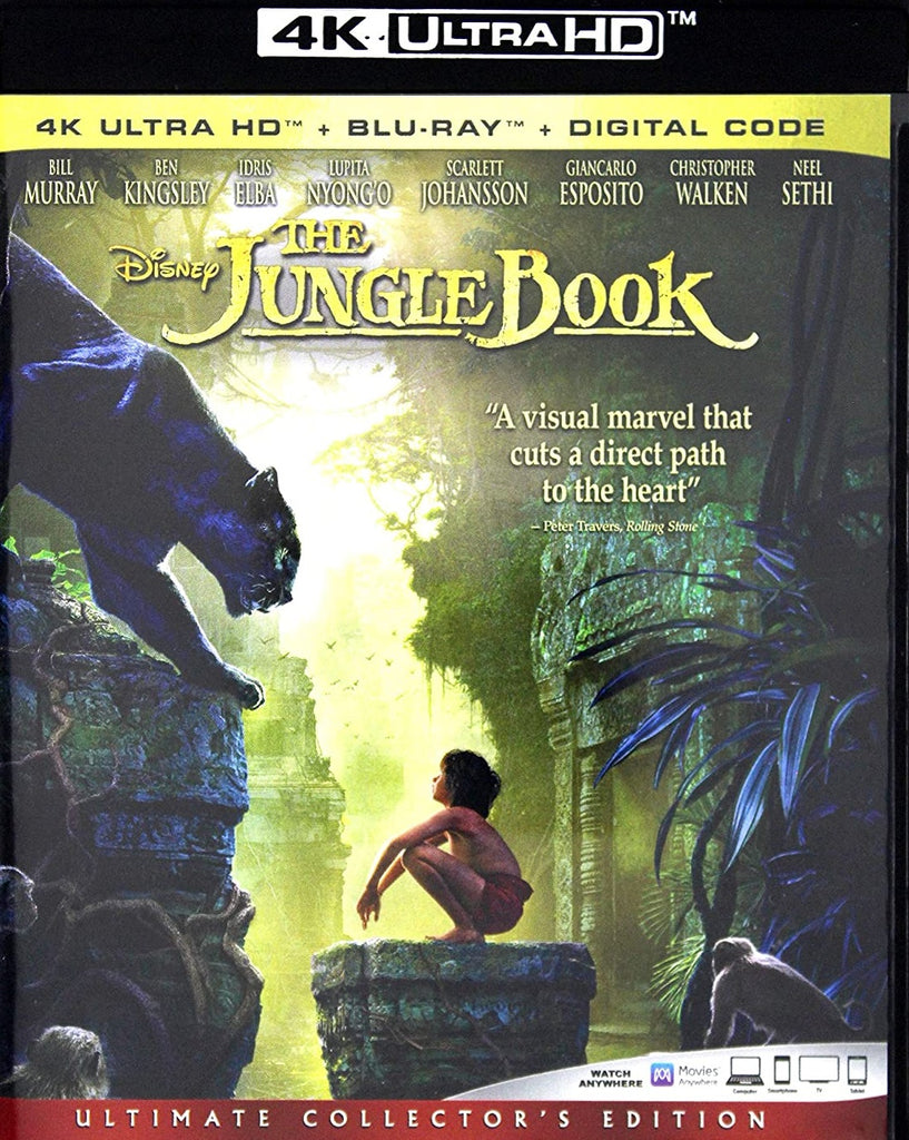 Jungle Book 2016 Digital Copy Download Code Disney VUDU 4K