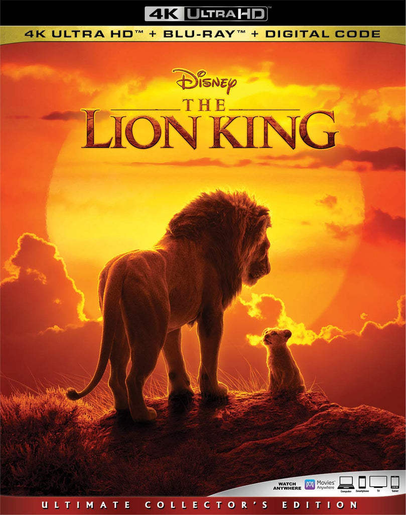 Lion King 2019 Digital Copy Download Code Disney Vudu 4K