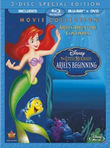 Little Mermaid 3 Ariel's Beginning Digital Copy Download Code Disney Movies Anywhere iTunes VUDU HD HDX