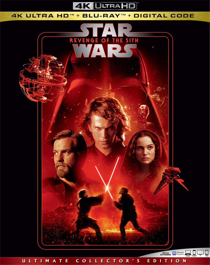 Star Wars Revenge of the Sith Digital Copy Download Code Disney Vudu 4K