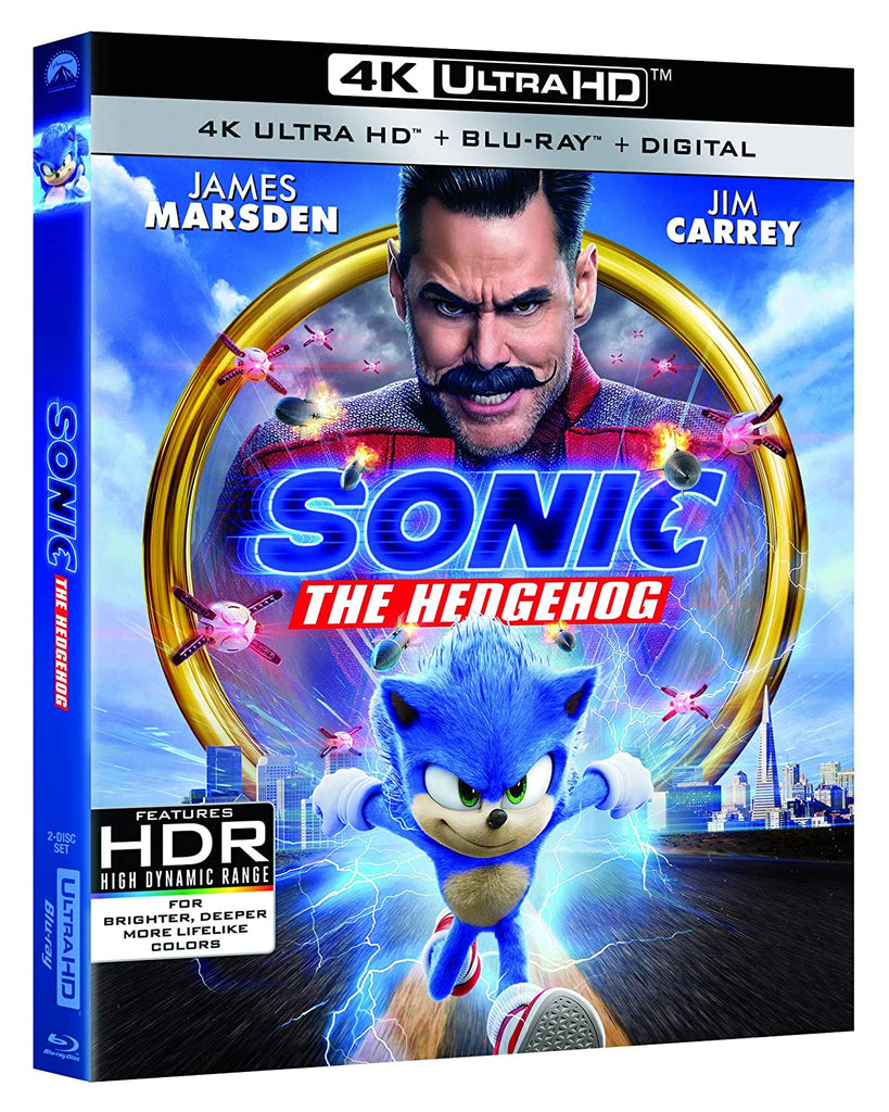 Sonic the Hedgehog Digital Copy Download Code VUDU or iTunes 4K