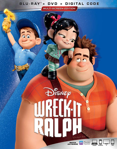 Wreck-it Ralph Digital Copy Download Code Disney Google Play HD Pre-Order 9-10